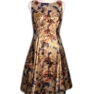 Adrianna Papell Cream Floral Dress